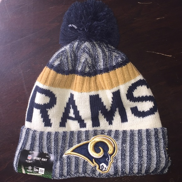 buy online 900f6 1e624 Los Angeles Rams Sport Knit Beanie Authentic NFL
